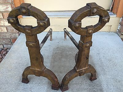 Arts And Crafts Fireplace Andirons By Peerless