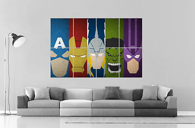 Avengers Minimalist Super Hero Wall Poster Great Format A0 Print