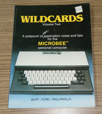 Rare Microbee Australian Personal Computer Wildcards Volume Two Book
