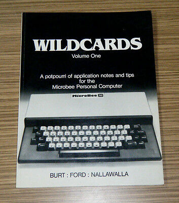 Rare Microbee Australian Personal Computer Wildcards Volume One Book