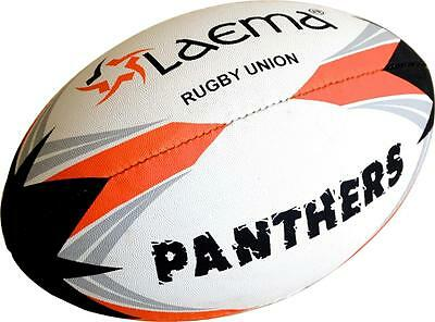5 X PANTHERS RUGBY-High Abrasion Advance PIN GRIP 4 PLY Union Match Ball Size 5