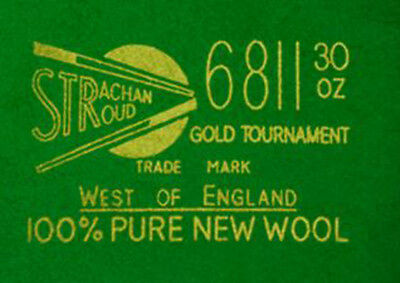 Strachan - Snooker cloth West of England - 6811 Gold Tournament
