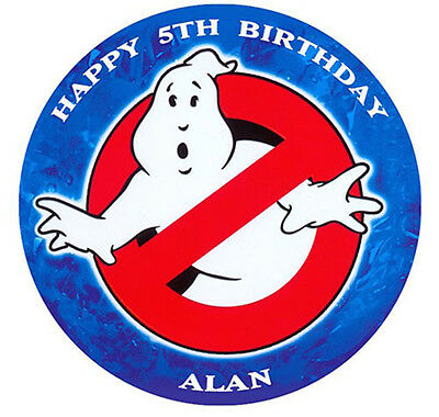 Ghostbusters Personalised Premium Edible Icing Cake Decoration Topper Image