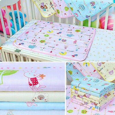 Baby Waterproof Urine Mats Covers Cotton Reusable Washable Changing Pads Optimal