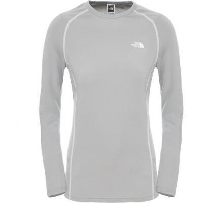 North Face Warm L S Crew Neck Womens Base Layer Top - Monument Grey All Sizes