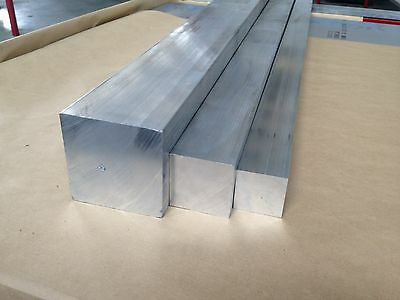 Aluminium Square Solid (billet) 50mm x 50mm for Hobby Milling, CNC Machining