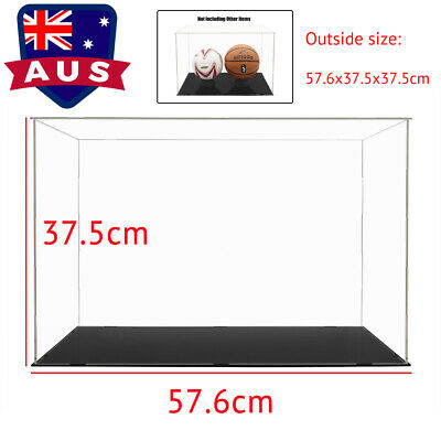 AU Large Acrylic Display Case 56cm L Clear Perspex Box Plastic Dustproof Figures