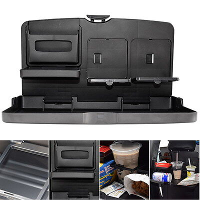 Foldable Car Auto Back Seat Drink Bottle Rack Holder Stand Travel Dining Tray UK