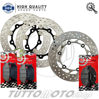 Kit Dischi Ant. + Post. Rms + Pastiglie Brembo Carbon Yamaha Tmax 500 2006 2007