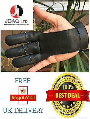 Archers Leather Shooting 3 Fingers Glove