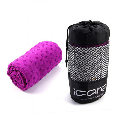 Non-slip Yoga Mat Towel Dance Gym Pilates Fitness Cover Blanket with Carry Bag