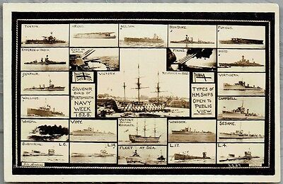 Portsmouth 1929 Navy Week - Lovely 1929 Real Photo Postcard
