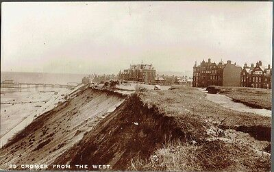 Cromer, Norfolk from the West - Real Photo Postcard