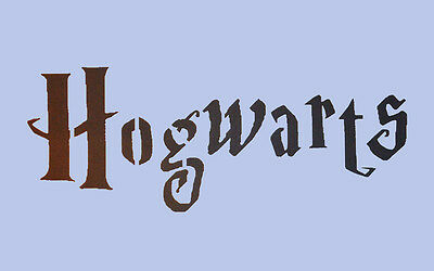 Hogwarts Stencil Harry Potter Sign 297 x 189mm Paint Wall Crafts Re-usable 005