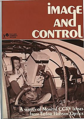 Old 1972 Catalog Image and Control CCTV Taylor Hobson Optics