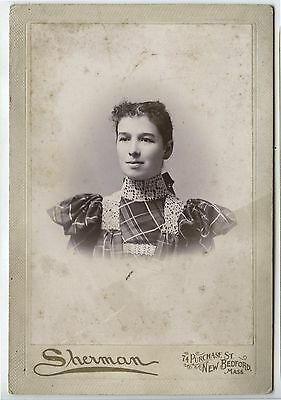Antique Cabinet Photo Young Woman Portrait Aunt Kate Kennedy