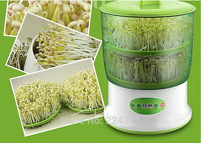Automatic 220 Volt Double Bean Sprouting Machine, High Germination Rate, NEW
