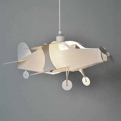 Fun Children's Bedroom / Baby Nursery White Aeroplane Ceiling Cot Mobile Lamp Pe