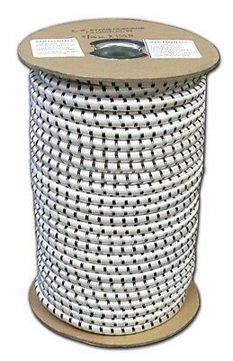 """Elastic Bungee Shock Cord Rope Cording Roll Stretch Bungie White 3/16"""" X 100'"""