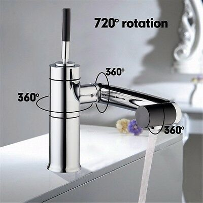 Chrome Solid Brass Water Power Kitchen Faucet Solid Kitchen Tap Swivel Spout OUT