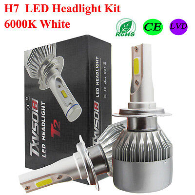 2X55W H7 CREE LED Phare feux Xenon Blanc Lampe Ampoule Voiture Auto Headlight