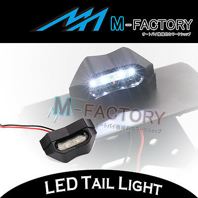 100% Billet Black LED Tail Tidy Number Plate Light Replacement For Motorcycle