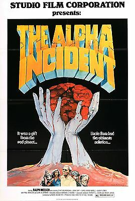 The Alpha Incident Movie POSTER (1978) Horror/Sci-Fi