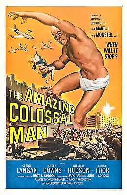 The Amazing Colossal Man Movie POSTER (1957) Sci-Fi
