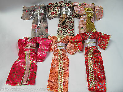 Unique Japanese Kimono Barbie Sindy Doll Geisha Outfit Dress 5 Colours Uk Seller