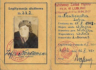 Poland: Department Of Health Id Card (1945) (# 4165)