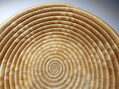 Inuit Eskimo basket art. A hand-made reeded  bowl, about  14 x 5