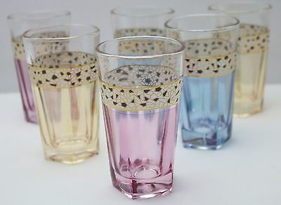 New Set of 6 Coloured Glass Tumblers 26251
