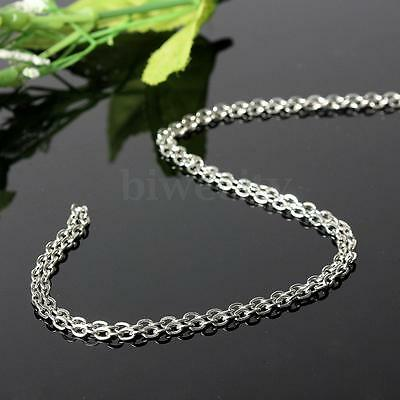 5M Silver Plated Cable Open Link Iron Metal Chain Slender Jewelry Make Findings