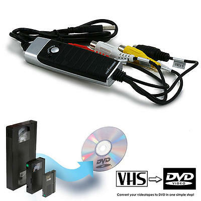 USB 2.0 Video Grabber with Audio, VHS to DVD Conversion Kit