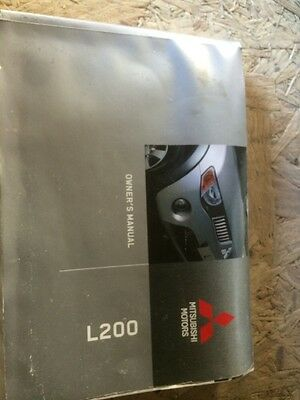 mitsubishi l200 owners handbook manual 2009 2008 2007 2006