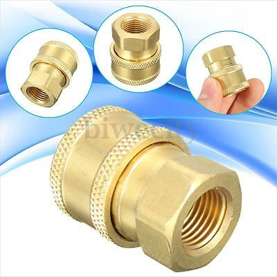 "1/4"" Quick Release Pressure Washer Hose Adaptor Connector Plug To BSP1/4 Female"