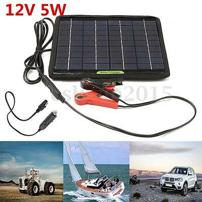 5W 12V Cell Solar Panel Module Battery Charger Backup For Car Boat RV Camping