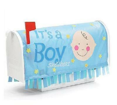 "NEW ""It's a Boy"" Baby Birth Announcement Blue Mailbox Cover Banner Adorable Gift"