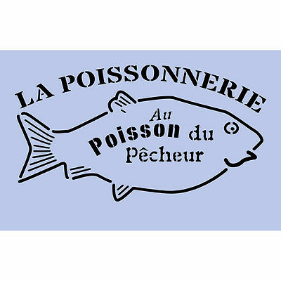Fish Stencil 297x189mm French Sign Spray Re-Usable Airbrush French Wall Craft 23