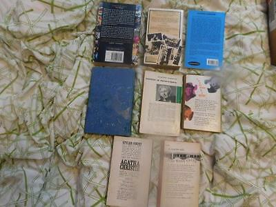 Job lot of 8 books by and about Agatha Christie including hardbound Hickory Dock