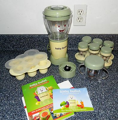 Magic Baby Bullet 19 Piece Storage Care Set Green Make your own Baby Food System