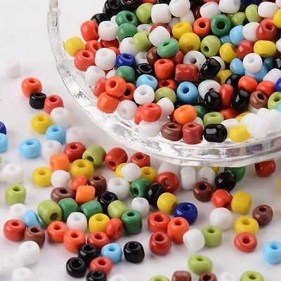 Mixed Color 6/0 Opaque Round Glass Seed Beads about 495pcs/50g 4mm Jewelry Craft