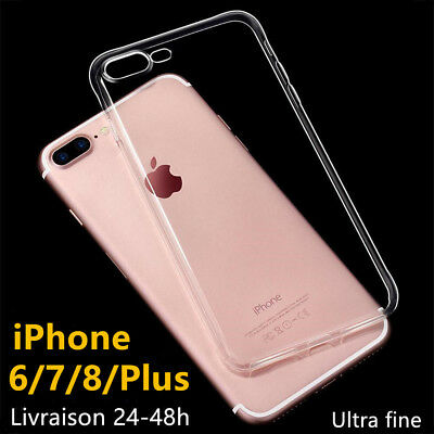 IPHONE 6 7 8 PLUS / X HOUSSE ETUI COQUE SILICONE Crystal ultra fine TOP QUALITE