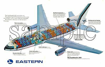 "EASTERN AIRLINES 17"" x 11"" POSTER  Lockheed L1011 Photo"
