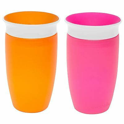 Munchkin Miracle 360 Sippy Cup Pink/Orange 10 Ounce 2 Count