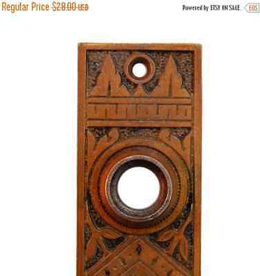 40% OFF Free Shipping Vintage Antique Ornate Eastlake Backplate Escutcheon, E132