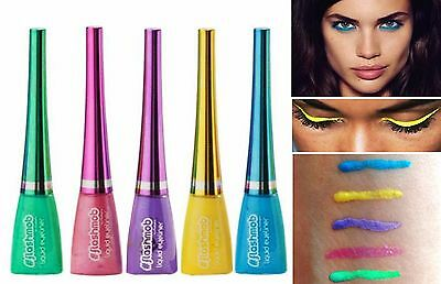 Liquid Electric Shimr Eyeliners Bright Turquoise Yellow Iridescent Pink or Lilac