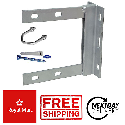 Aerial Wall Mount Bracket 6 x 6 Galvanised + Fixing + *Free First Class Postage*