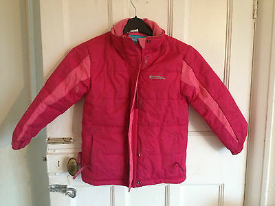 girls mountain warehouse  coat good condition size 5-6 years