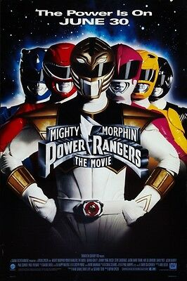 """MIGHTY MORPHIN POWER RANGERS 1995 Teaser Ver B DS 2 Sided 27x40"""" US Movie Poster"""